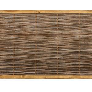 Robinienzaun CAMBO, waagrecht geflochten, 120 x 60