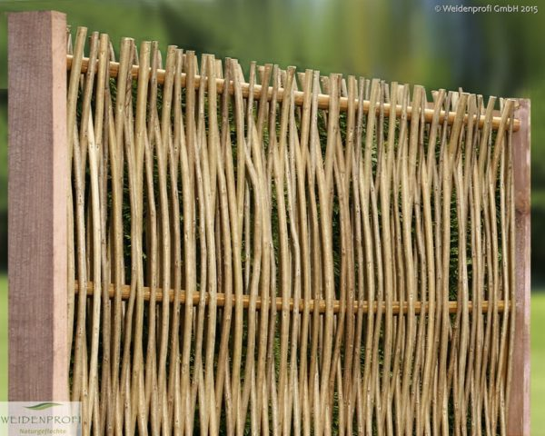 Robinienzaun LATO Kompakt, senkrecht geflochten, 120 x 100