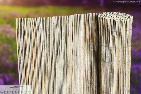 Robinienmatte, Sichtschutzmatte Robinie 300 x 150