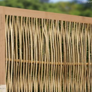 Robinienzaun CIRCO Komfort, senkrecht geflochten, 120 x 100