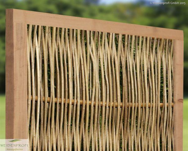 Robinienzaun CIRCO Komfort, senkrecht geflochten, 120 x 150