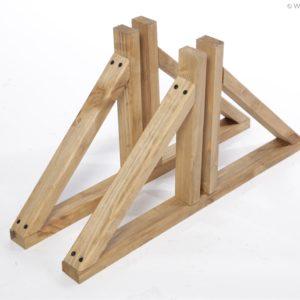 Standfuß aus Holz für Paravent und Paravent Solid
