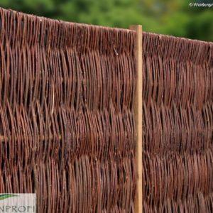 Weidenzaun LATO Solid, senkrecht geflochten, 180 x 180