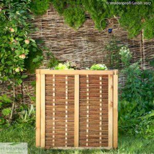 Hochbeet aus Kiefer und Weide, Bausatz 80x80x80 cm